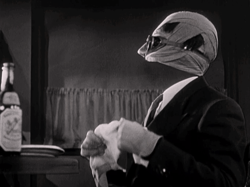 The Invisible Man Black Screen Effect